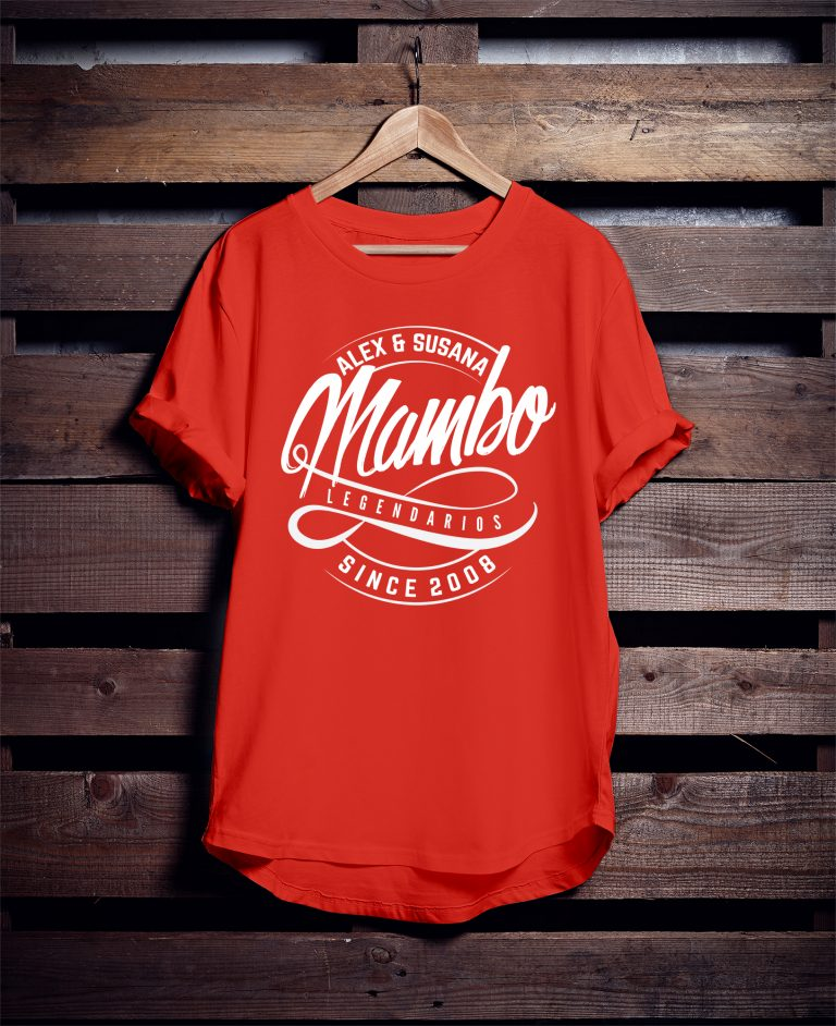 Camiseta Salsa Mambo Naranja